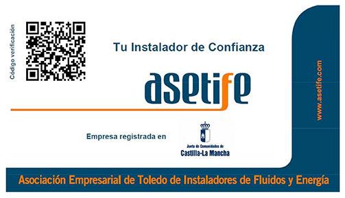 tarjeta verificacion instalador confianza asetife - Instalador de Confianza